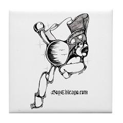 Original Chicano Art - Tile Coaster