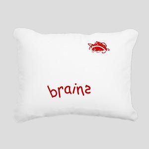 afraidnozombieNeg Rectangular Canvas Pillow