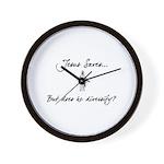 Jesus Saves..But... Wall Clock