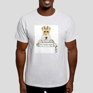 Fox Terriers Rule Ash Grey T-Shirt