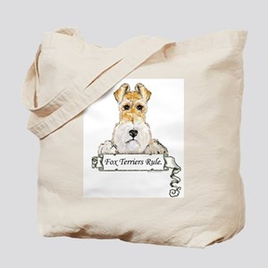 Fox Terriers Rule Tote Bag