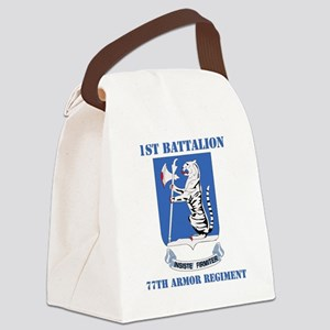 DUI - 77th armor rgt with text Canvas Lunch Bag