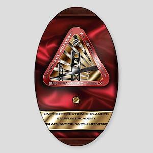 starfleet-academy-graduation-card c Sticker (Oval)