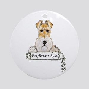 Fox Terriers Rule Ornament (Round)