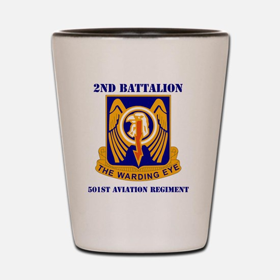 2-501ST AVIATION BRIGADE WITH TEXT Shot Glass
