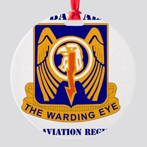 2-501ST AVIATION BRIGADE WITH TEXT Round Ornament