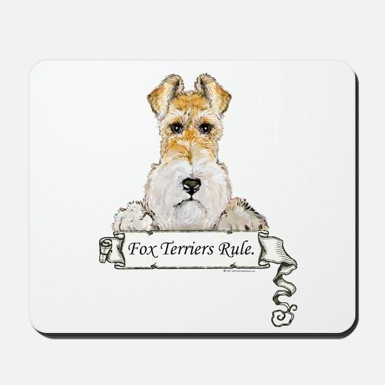 Fox Terriers Rule Mousepad