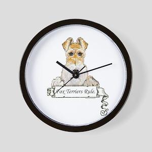Fox Terriers Rule Wall Clock