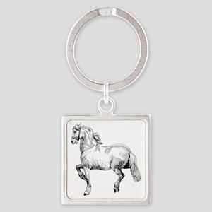 Horse Illustration3 - Copy Square Keychain