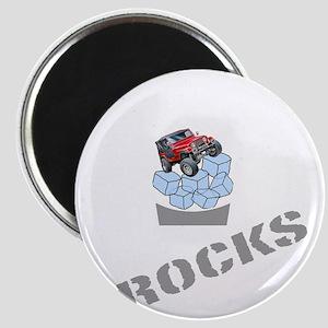 On The Rocks Whiskey WHITE Magnet