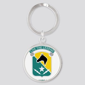 SPECIAL TROOPS BN-1ST CAV WITH TEXT Round Keychain