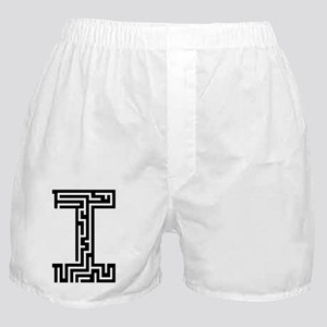 maze_letter_i_for_black Boxer Shorts
