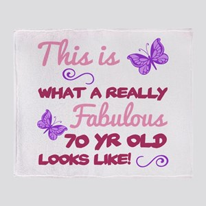 Fabulous 70th Birthday Throw Blanket