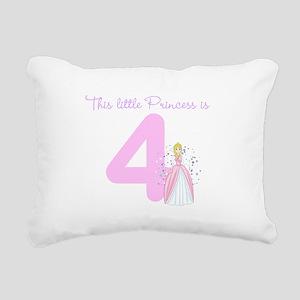 Princess Birthday Custom Age Rectangular Canvas Pi