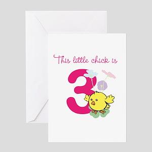 Birthday Chick Custom Age Greeting Cards