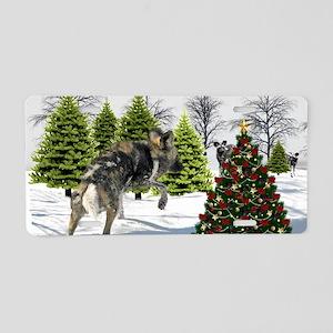 dog card  Aluminum License Plate