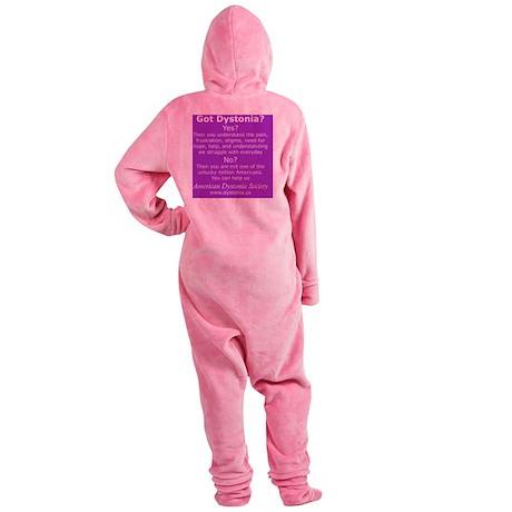 DystoniaTShirt3 Footed Pajamas