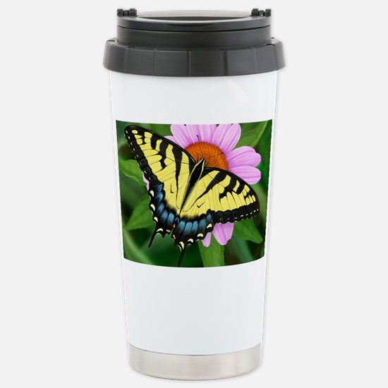 Swallowtail Stainless Steel Travel Mug