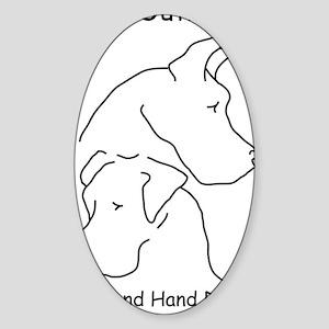 do_logo_bw_f Sticker (Oval)