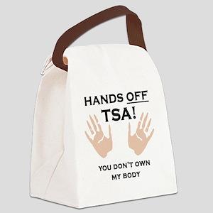 Hands off shirt Canvas Lunch Bag