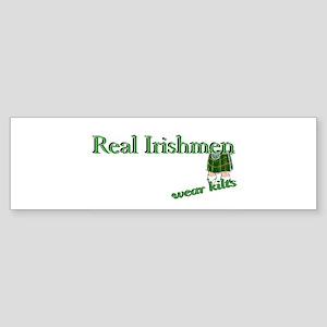 Real Irish Men Wear Kilts Bumper Sticker