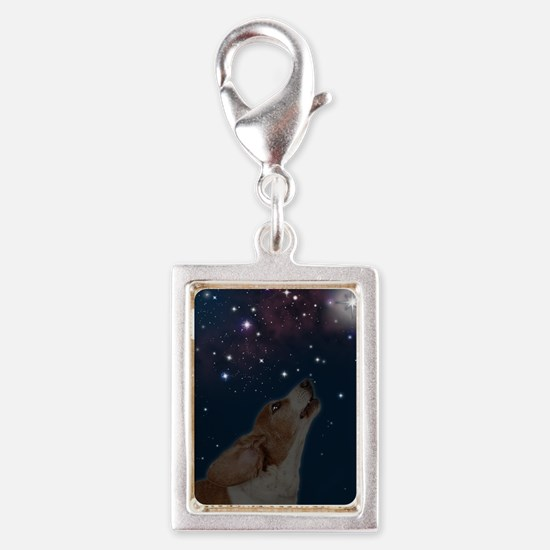 O Howly Night Front Silver Portrait Charm
