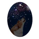 Basset hound Oval Ornaments