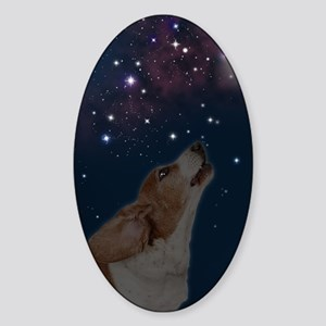 O Howly Night Front Sticker (Oval)