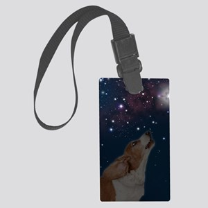 O Howly Night Front Large Luggage Tag