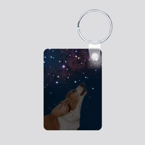 O Howly Night Front Aluminum Photo Keychain