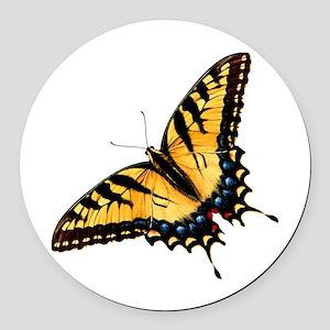 tigerSwallowtail45 Round Car Magnet