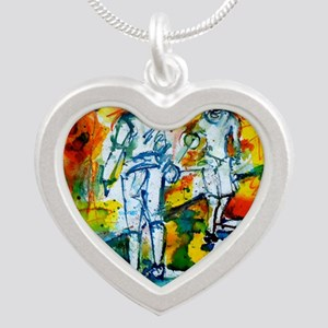 Epee Boys Silver Heart Necklace