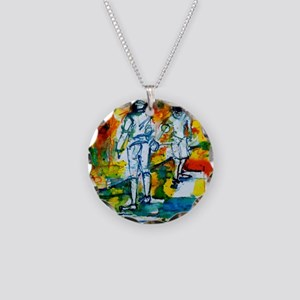 Epee Boys Necklace Circle Charm