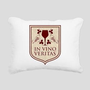 in vino veritas Rectangular Canvas Pillow