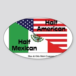 mexican-american Sticker (Oval)