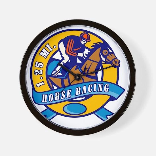 horse jockey race racing circle Wall Clock