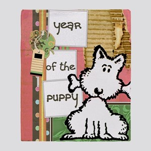 dog  bone year of the puppy Throw Blanket