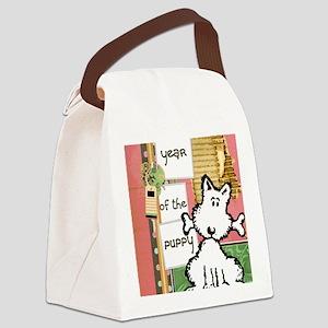 dog  bone year of the puppy Canvas Lunch Bag
