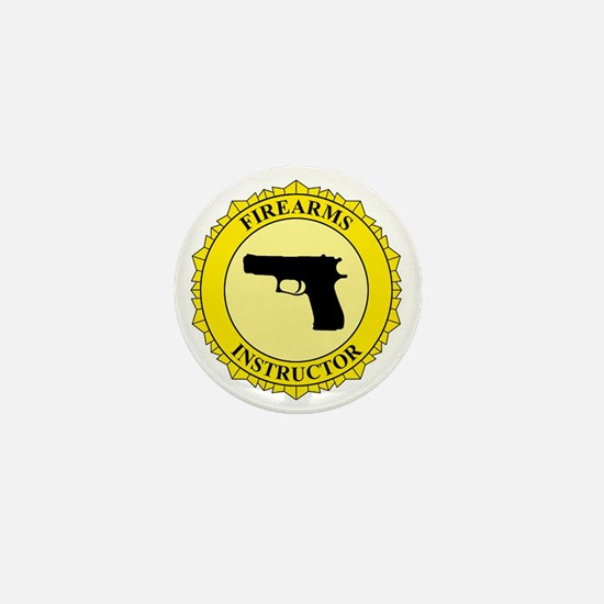 Firearms Instructor Mini Button