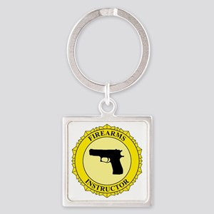 Firearms Instructor Square Keychain