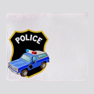 official police fam... Throw Blanket