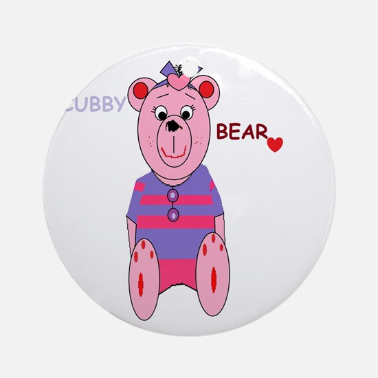 nanas little cubby bear Ornament (Round)