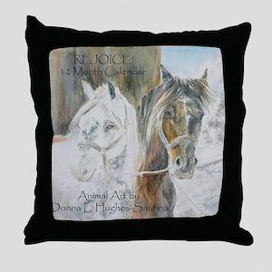 2010 Calendar cover w background copy Throw Pillow
