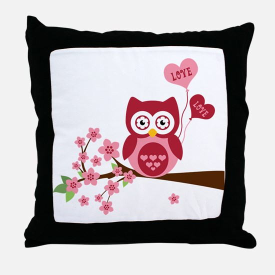 Love You Owl Throw Pillow