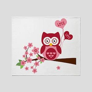 Love You Owl Throw Blanket