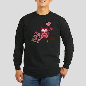 Love You Owl Long Sleeve Dark T-Shirt