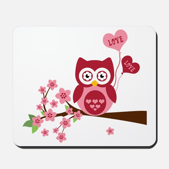 Love You Owl Mousepad