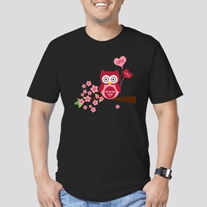 Love You Owl Men's Fitted T-Shirt (dark)