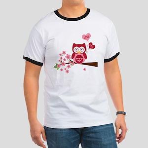 Love You Owl Ringer T