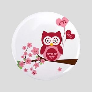 """Love You Owl 3.5"""" Button"""